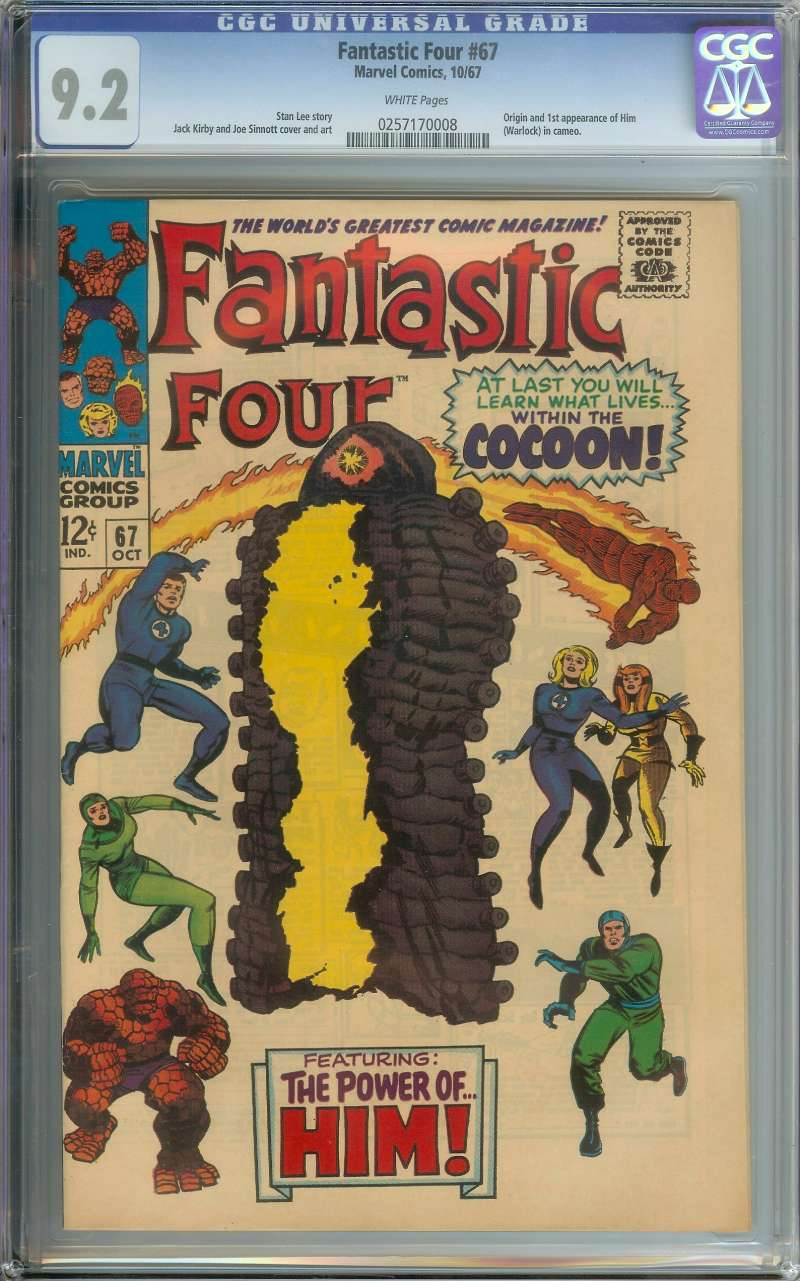 FANTASTIC FOUR #67 CGC 9.2 WHITE PAGES