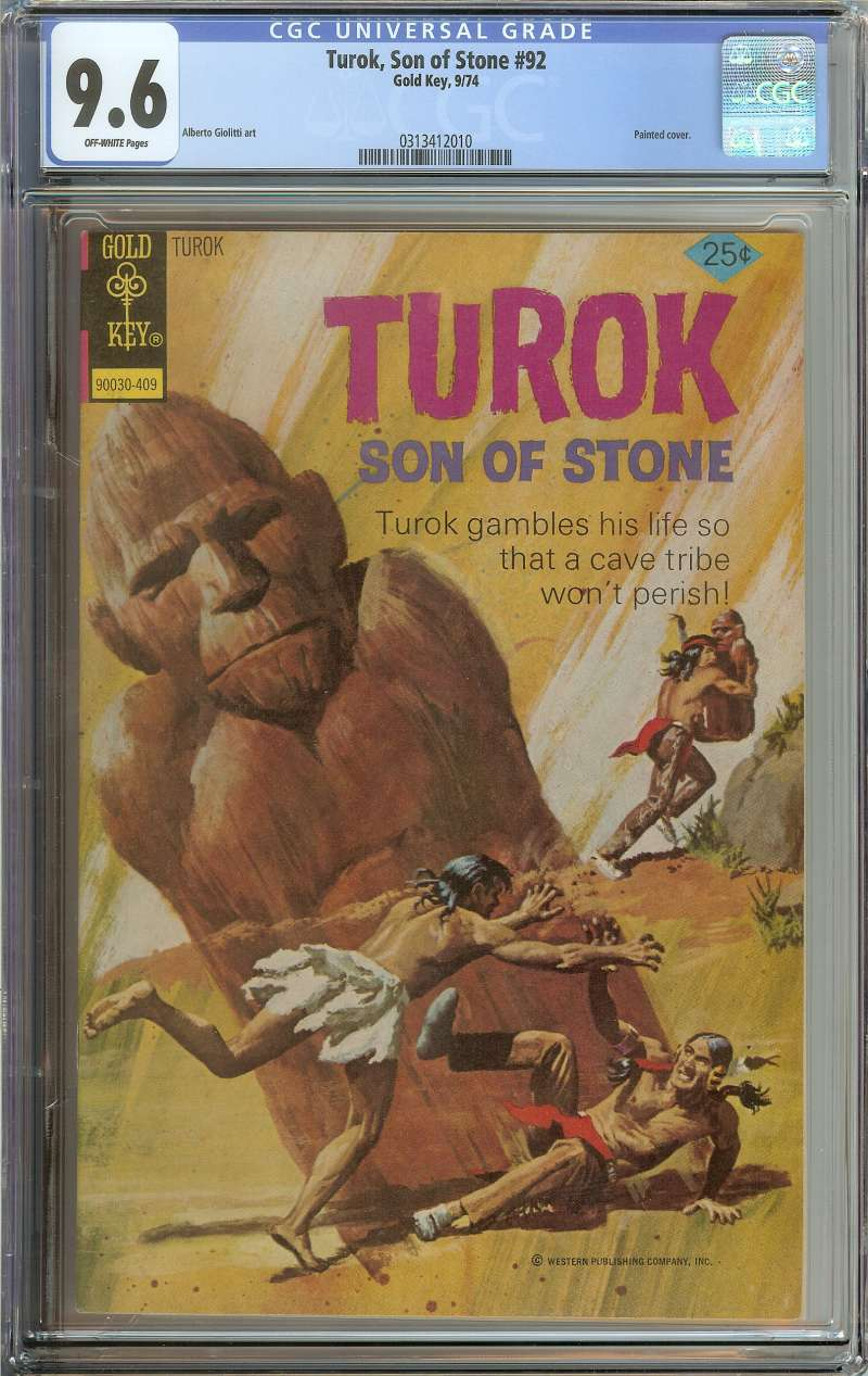 Turok Son Of Stone 92 Cgc 9 6 Ow Pages Ebay