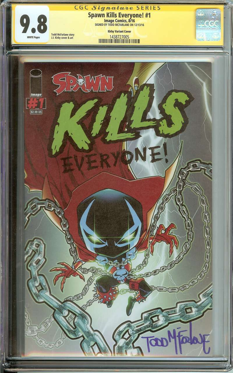 Details about SPAWN KILLS EVERYONE! #1 CGC 9 8 WHITE PAGES